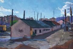 Estación del Martinete, 2004, del natural, 450, óleo, Málaga, 95x59 cm