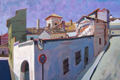 Tejados, 2004, del natural, 550, Mota del Cuervo, Cuenca, 116x89 cm