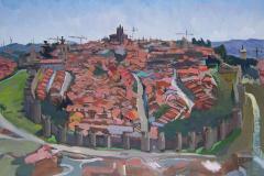 10. Panorámica, 1999, del natural, 450, Ávila, 100x75 cm