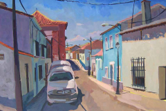 14. Calle azul, del natural, 500, Griñón, Madrid, 101x90 cm