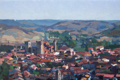 2. Panorámica de Sigüenza, 2005, óleo sobre tabla, 250€, 19x31 cm