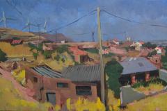 20. Molinos, 2005, del natural, 450, Grisel, Zaragoza, 100x65 cm
