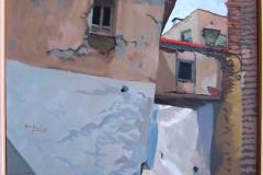 21. Casa de paso (a la iglesia), 2005, del natural, 720, Aldeire, Granada, 100x81 cm