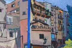 24. Dos vistas, 2005, del natural, 450, Cuenca, 100x81 cm