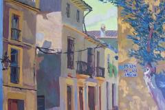 26. Plaza de las Cañas, 2005, del natural, Córdoba, 81x81 cm