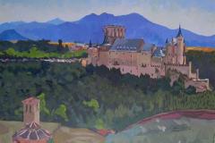 8. Alcázar y Veracruz, 2005, del natural, 500, Segovia, 100x78 cm