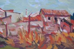 3-Casas-antiguas-y-postes-2006-Daimiel-150-18-x-32-cm