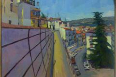 1. Frente al museo (2008), Guadix, Granada. Óleo sobre lienzo, del natural