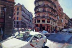 6. Espartero con Postas, 2009, Calle Mayor (Madrid), acrílico sobre tabla, sin medidas ni precio