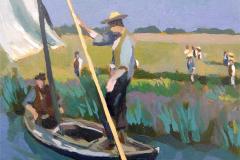 8. Cañas y vara, 2009, de la serie Cañas y barro (Valencia), óleo sobre tabla. Sin medidas ni precio