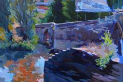 11. Desde el Puente, 2010, Puente Viejo, Guadalajara. Óleo sobre tabla del natural, 100x81 cm, 500€