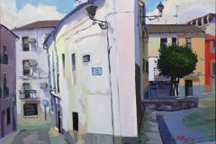 2. Calle de la Salud, 2010, Plasencia (Cáceres), óleo sobre lienzo del natural, 100x81 cm