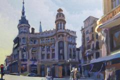 25. Canalejas diurna, 2010, Plaza de Canalejas, Madrid. Óleo sobre tabla, 27x22 cm. 110€