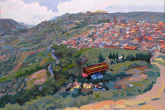 3. Panoramicarro, 2010, Castellar, Jaén. Óleo sobre lienzo del natural, 116x81 cm