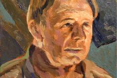5. Sancho en interior (2010), óleo sobre tabla, 11x12 cm