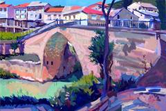 8. Puente sobre el Tajo, 2010, Trillo, Guadalajara. Óleo sobre lienzo, 116x73 cm