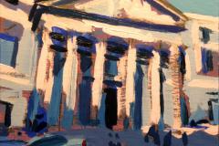 27. Congreso y Progreso, 2011, Congreso de los Diputados, Madrid. Óleo sobre tabla, 11x12 cm. 46€
