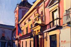 28. Phaloayuntamiento, 2011, Plaza de la Villa, Madrid. Óleo sobre tabla, 24x17 cm, 130€