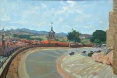 33. Santiago y el Rastro, 2011, Ávila. Óleo sobre lienzo, 81x54 cm. 400€.
