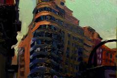 9. Capitool, 2011, Gran Vía, Madrid. Óleo sobre tabla, 16x11 cm, 55€