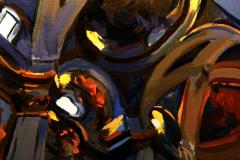 11. San Miguel, 2012, Calle San Justo, Madrid. Óleo sobre tabla, 18x18 cm. 105€