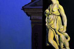 16. Blanca Mariblanca, 2012, Puerta del Sol, Madrid. Óleo sobre tabla, 18x18 cm, 105€