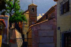 21. Sobre la Calle del Limón, 2012, Granada. Óleo sobre lienzo, 22x27 cm. 145€