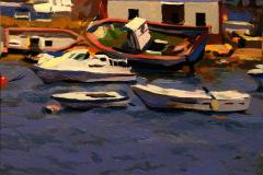 6. Depuradora de moluscos FRUMASUR, 2012, Puerto de Isla Cristina, Huelva. Óleo sobre tabla, 18x18 cm. 105€