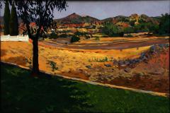 9. Miraflores y el cerro de los dorados, 2012, Piedrabuena, Ciudad Real. Óleo sobre lienzo, 60x81 cm, 400€