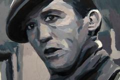 10. Big boy (2013), Sidney Blackmer, Little Caesar, Mervin Leroy, 1931. Óleo sobre tabla, 12,5x18 cm. 65€