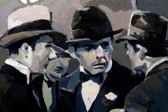 11. La reunión (2013), Lumi, Scarface, el terror del hampa. Howard Hawks, 1932. Óleo sobre tabla, 18x18 cm. 105€