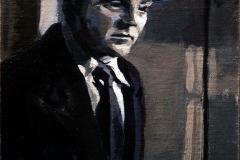 14. Rematarte (2013), James Cagney, Al rojo vivo, 1949. Óleo sobre tabla, 15x20 cm. 85€