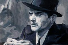 15. Pendiente (2013), Scarface, el terror del hampa, Howard Hawks, 1932. Óleo sobre tabla, 18x18 cm. 105€