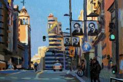 16. Mejor Callao (2013), Callao, Madrid. Óleo sobre tabla, 18x18 cm. 105€