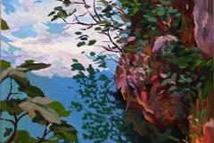 19. Ruidera mágica (2015), Lagunas de Ruidera (Ciudad Real). Óleo sobre tabla, 30 x 23 cm. 140€