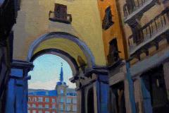 2016. El balcón de Leocadia. Puerta de Toledo de la Plaza Mayor
